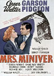 Filmplakat zu Mrs. Miniver