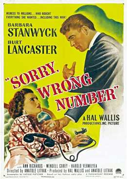 Filmplakat zu Sorry, Wrong Number