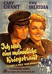 Filmplakat Ich war eine männliche Kriegsbraut