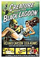 Filmplakat zu Creature from the Black Lagoon