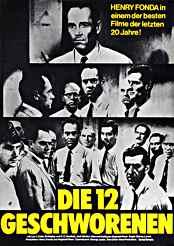 Filmplakat Die zwölf Geschworenen