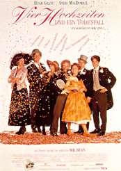 Filmplakat Vier Hochzeiten und ein Todesfall