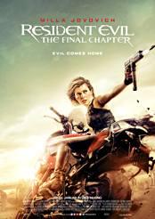 Filmplakat zu Resident Evil: The Final Chapter