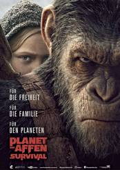 Filmplakat Planet der Affen: Survival